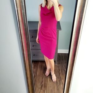 NWT Adrianna Papell Fuschia Midi Dress